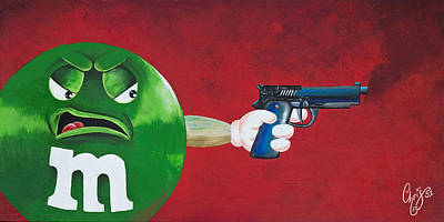 Taste The Rainbow Of Bullets Bitch Part 1 Art Print by Chris  Fifty-one
