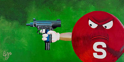 Taste The Rainbow Of Bullets Bitch Part 2 Art Print by Chris  Fifty-one