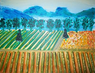 Taste The Vineyard Art Print by Alexandra Torres