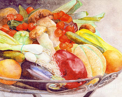 Art Print featuring the painting Tastes Of Tuscany by Bonnie Rinier