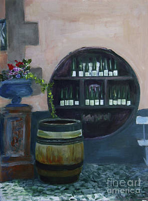 Painting - Tasting Along The Alsace Wine Trail by Donna Walsh
