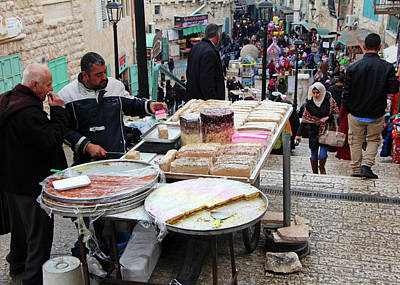 Photograph - Tasting Bethlehem Sweets by Munir Alawi