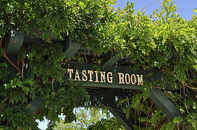 Wine Photograph - Tasting Room Sign by Brandon Bourdages