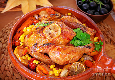 Photograph - Tasty Baked Turkey by Anna Om