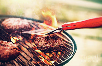 Photograph - Tasty Barbecue Meat by Anna Om