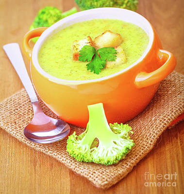 Photograph - Tasty Broccoli Cream Soup by Anna Om