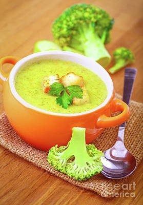 Photograph - Tasty Broccoli Soup by Anna Om