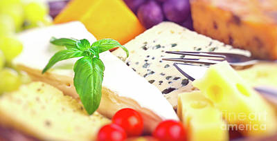 Photograph - Tasty Cheese Background by Anna Om