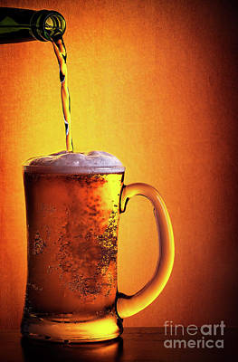 Photograph - Tasty Cold Beer by Anna Om