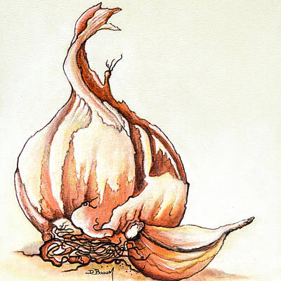 Cloves Painting - Tasty Garlic by Dawn Broom