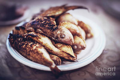 Photograph - Tasty Grilled Fishes by Anna Om