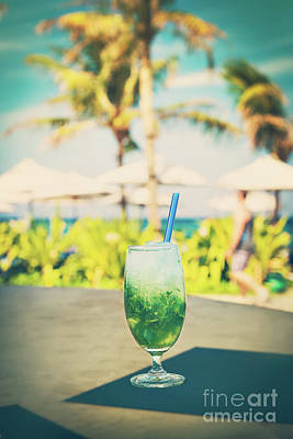 Photograph - Tasty Mojito On The Beach by Anna Om