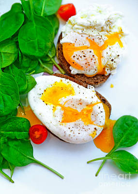 Photograph - Tasty Poached Eggs by Anna Om