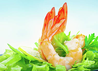 Photograph - Tasty Shrimp Salad by Anna Om