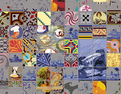 Tasty Tiles Art Print by Alfred Degens