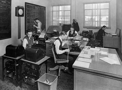 Tat Photograph - Tat Airline Office by Underwood Archives