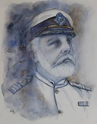Painting - Titanic Ship Captain Edward John Smith by Kelly Mills