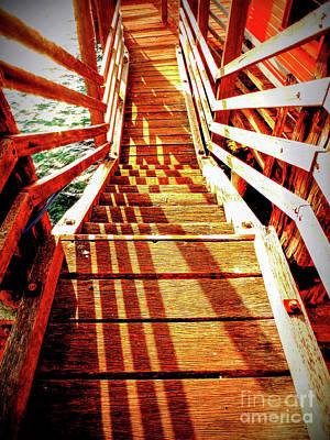Tathra Wharf Stairs Art Print by Lexa Harpell