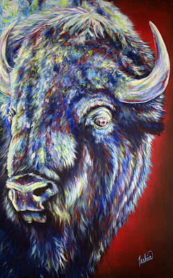 Bison Painting - Tatonka Soul by Teshia Art
