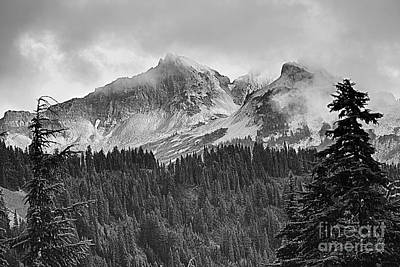 Black Unicorn Photograph - Tatoosh Mountains Bw by Marv Vandehey