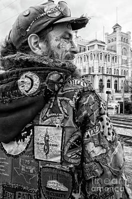 Photograph - Tats And Patches Nola - Bw by Kathleen K Parker