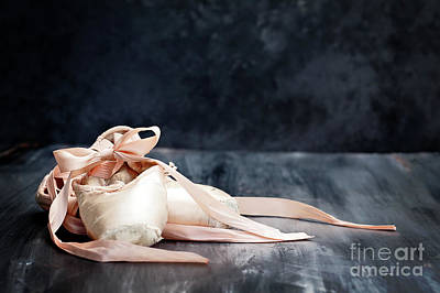 Photograph - Tattered Ballerina Slippers by Stephanie Frey