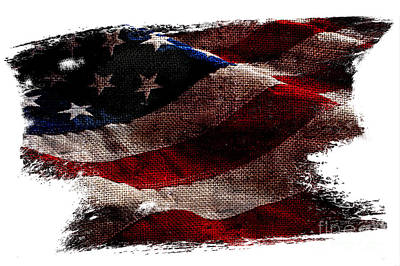 Bennington Photograph - Distressed Old Glory by Jon Neidert