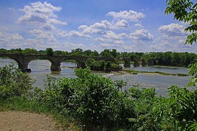 Photograph - Tattered Trestle Over The Maumee by Michiale Schneider