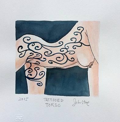 Tattoed Torso Art Print