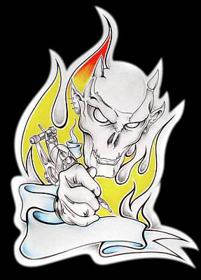 Mixed Media - Tattoo by Brian Gibbs