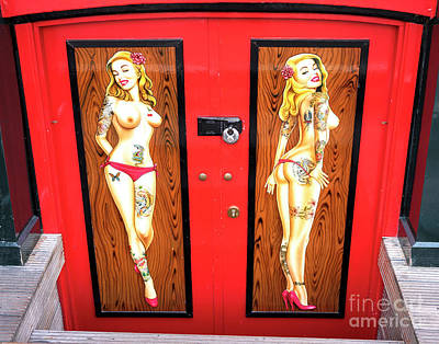 Photograph - Tattoo Doors In The Red Light District by John Rizzuto