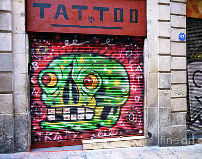 Photograph - Tattoo Graffiti by John Rizzuto