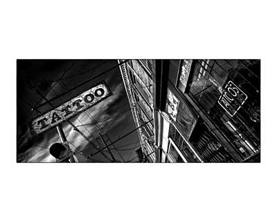 Tattoo Parlour On White Art Print by Brian Carson