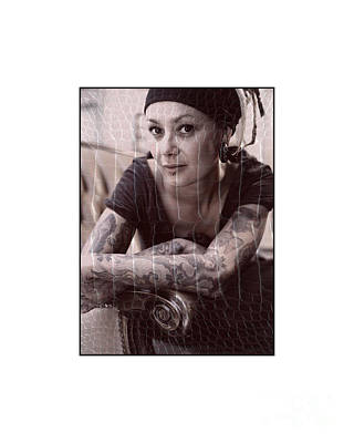 Photograph - Tattoo'd Girl Posing by Michael Edwards