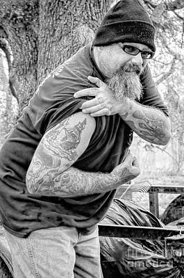 Photograph - Tattooed Plantation Worker by Kathleen K Parker