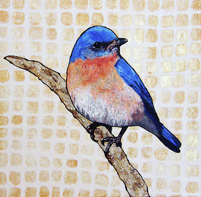 Bluebird Mixed Media - Tatum by Jacqueline Bevan
