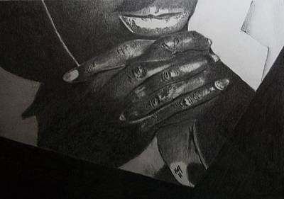 African-american Drawing - Tatum by Nick Young