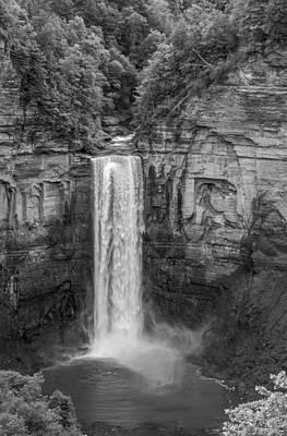 Taughannock Falls 2 Bw Print by Steve Harrington