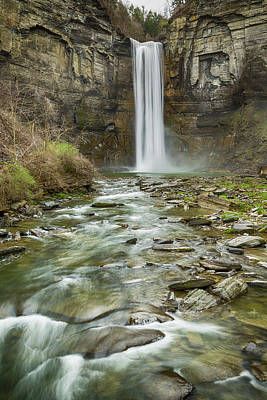 Taughannock Falls Photograph - Taughannock Falls After The Thaw by Stephen Stookey