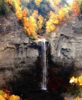 Taughannock Falls Art Print by David Lane