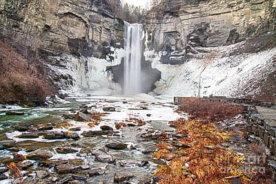 Photograph - Taughannock Falls In Winter by Robert Gaines