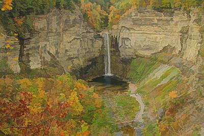 Painting - Taughannock Falls Panorama by Dan Sproul