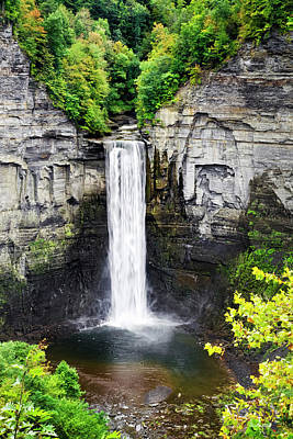 Fall Foliage New York Wall Art - Photograph - Taughannock Falls View From The Top by Christina Rollo