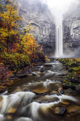 Rivers In The Fall Photograph - Taughannock Fog by Mark Papke