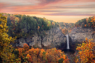 Taughannock Sunset Art Print by Jessica Jenney