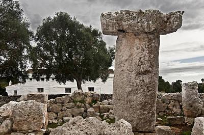 Photograph - Taula Binisafua Menorca Bronze Age by Pedro Cardona