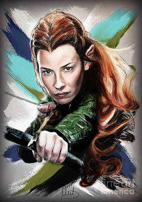 The Hobbit Wall Art - Pastel - Tauriel / Evangeline Lilly / by Melanie D