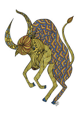 Drawing - Taurus by Barbara McConoughey
