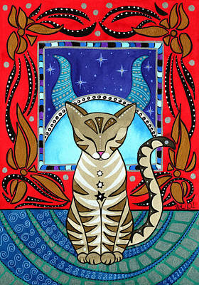 Taurus Cat Zodiac Art Print