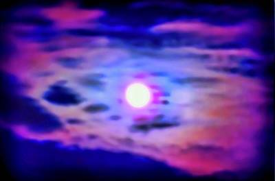 Photograph - Taurus Full Moon Psychedelic by Judy Kennedy